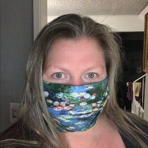 Monet Waterlillies face mask